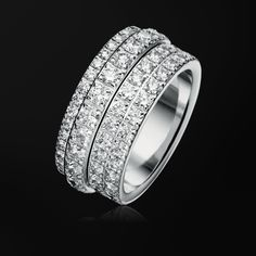 white gold diamond ring g34px600 piaget luxury jewelry online - Million Dollar Wedding Ring