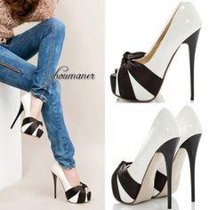 CHIQ | Platform Pumps Open Toes 12cm Stilettos High Heel Shoes Sandals