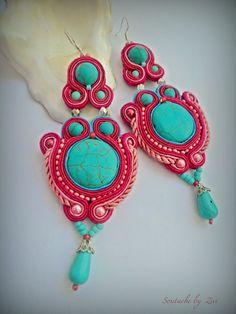 El Rinconcito de Zivi: pendientes de soutache, pendientes flamenca soutache, bisuteria soutache- soutache earrings, soutache jewelry