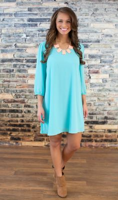 The Pink Lily Boutique - Mint To Be Dress, $42.00 (http://thepinklilyboutique.com/mint-to-be-dress/)