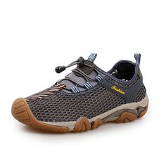 Mens Outdoor Breathable Athletic Shoes Elastic Slip-on Sneakers