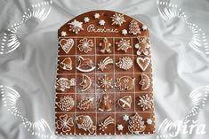 Perníkový adventní kalendář , Perníky dorty | Dorty od mamy Christmas Cooking, Christmas Fun, Edible Art, Cookies Et Biscuits, Holiday Baking, Cookie Decorating, Gingerbread Cookies, Advent Calendar, Decoration