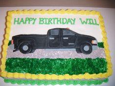 Pick up truck cake
