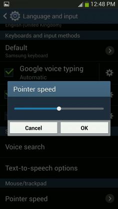 How To Use Pointer Speed - Samsung Galaxy S4 Active
