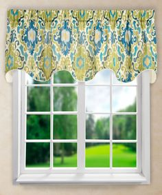 Found it at Wayfair - Tuscany Lined Scallop Curtain Valance