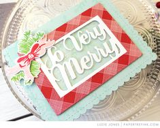 Make it Monday Incorporating Packaging Dies Into Your Cards - So Very Merry Card by Lizzie Jones for Papertrey Ink (October Beautiful Christmas Cards, Cool Cards, Christmas Inspiration, More Fun, Card Stock, Merry, Paper Crafts, Packaging, The Incredibles