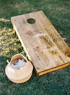 5 Creative Ways to Incorporate Monograms Into Your Wedding Wedding Reception Games, Wedding Ideas, Louis Vuitton Neverfull Tote, Floor Decal, Corn Hole Game, Love Games, Custom Cookies, Monogram Wedding, Crystal Wedding