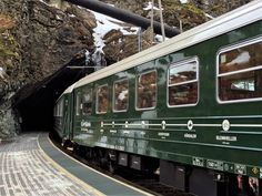 The Flam Railway enters a tunnel in Norway's Fjordland. Janis Turk photo.