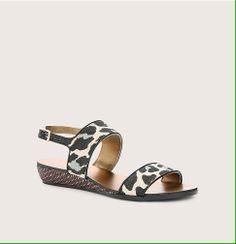 Canvas Mini Wedge Sandals   Loft