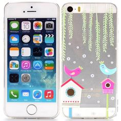 iPhone 5, 5s Vogel case, cover, hoesje transparant