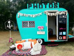 1961 Field and Stream Vintage Trailer Photo Booth. ourdiylove.com