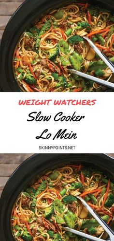 SLOW COOKER LO MEIN - weightwatchers weight_watchers slowcooker recipes smartpoints Source by s 268808671495643578 Crock Pot Recipes, Vegetarian Crockpot Recipes, Good Healthy Recipes, Ww Recipes, Healthy Lo Mein Recipe, Crockpot Ideas, Low Calorie Recipes Crockpot, Healthy Foods, Lo Calorie Meals