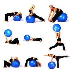 2015 Hot Exercise Fitness Aerobic Ball For GYM YoGa Pilates Pregnancy Birthing Swiss + Inflated Pump Pilates Training, Yoga Pilates, Pilates Workout, Exercise Ball Workouts, Cardio, Swiss Ball Exercises, Stability Ball Exercises, Yoga Exercises, Ballon Pilates