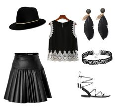 Quirky & chic by jill-hubbard on Polyvore featuring polyvore, fashion, style, David Koma, Anine Bing, Janessa Leone and clothing