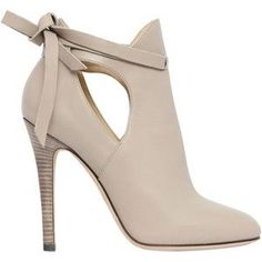 JIMMY CHOO 110mm Marina Leather Ankle Boots - Beige