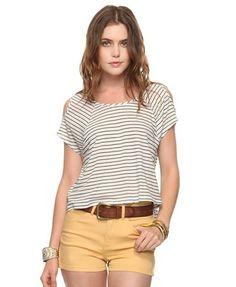 Navy/white striped shirt $12.90