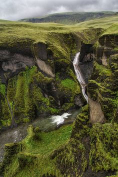 The irony, not.... Fjadrargljufur Canyon, Iceland photo via halldora