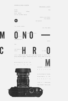 Nice black and white ad by Brazilian agency made for Leica. #graphicdesign #typography