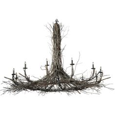 132 Inch W Twigs 12 Lt Chandelier - Custom Made