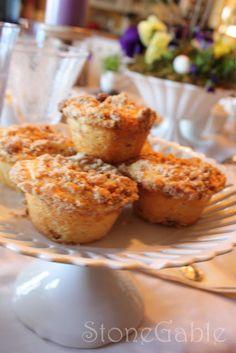 StoneGable: Orange Cranberry Muffins with Orange Marmalade Cream Cheese