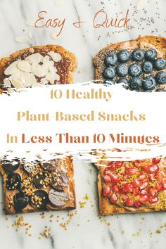 Lacking inspiration for healthy snacks? Use ingredients you may already have at home for these easy, quick plant-based snacks! Many conventional snacks contain unnecessary amounts of sugar and fat or animal products. Fortunately, you can easily create some healthy and tasty vegan snacks to nibble on at home. #vegansnacks #plantbased #veganrecipes #plantbasedsnacks #healthysnacks Plant Based Snacks, Vegan Recipes Plant Based, Vegan Recipes Easy, Vegan Snacks On The Go, Healthy Vegan Snacks, Going Vegan, Body Care, Clean Eating, Easy Meals
