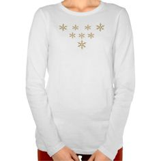 Custom T-Shirt with Golden Snowflake Design