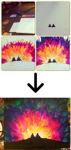 Melting Crayon Art Ideas (&How-to)Add stickers and once you're done melting the crayon wax with a blow dryer than peel off the stickersPlease like💕😊
