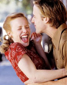 "All I remember was her laugh from this scene.  Rachel McAdams and Ryan Gosling in ""The Notebook""."