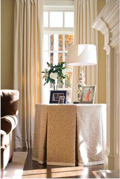 Tiffany Jones Interiors : Design Inspiration :: The Return of the Skirted Table