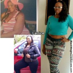Weight Loss Transformation of the Day: Latrice lost 123 pounds.  The death of a loved one and the end of a relationship led to emotional eating and weight gain.  At 320 pounds, she decided that enough was enough and worked to change her lifestyle.