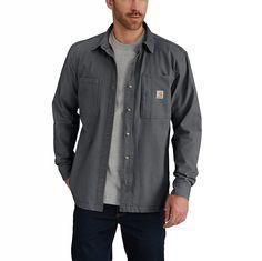 dd59e71ea45 Shop the Rugged Flex® Rigby Shirt Jac Fleece-Lined for Men s at Carhartt