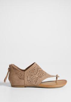 Elora hooded laser cut sandal