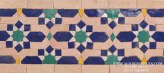 Scottsdale, Arizona largest distributor of Moroccan tile, Moorish mosaic, Mediterranean terracotta tile, Spanish ceramic tiles for kitchen backsplash & bathroom Westport Connecticut, Tiles For Sale, Border Tiles, Islamic Patterns, Moroccan Tiles, Moorish, Swatch, Mosaic, Hand Painted