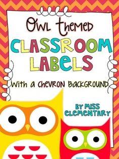 d0f36d99e Owl Themed Classroom Labels  Organize your classroom!