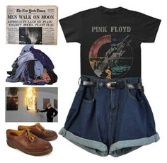 """final cut"" by smolnico ❤ liked on Polyvore featuring Floyd, Dr. Martens and vintage"