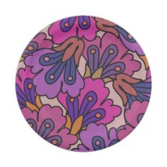 allover jac purple 7 inch paper plate