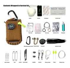 29 in 1 SOS Outdoor Paracord Survival Kit Emergency EDC Gear For Camping Hunting