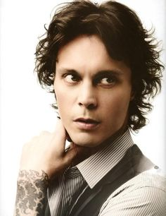 Ville Valo of HIM, and he's a big DM fan too.  :)