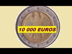Very rare error 2 euro coin Euro Währung, Euro Coins, Valuable Coins, Old Money, Coin Collecting, German, Youtube, Money, Cavities
