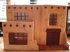 """Have fantasized of making an adobe dollhouse - obviously part of a series of """"global"""" dollhouses - this is inspirational"""