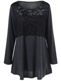 GET $50 NOW | Join RoseGal: Get YOUR $50 NOW!http://www.rosegal.com/plus-size-t-shirts/plus-size-lace-insert-tunic-982026.html?seid=2275071rg982026
