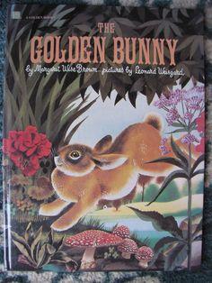 The Golden Bunny by Margaret Wise Brown & Leonard Weisgard ~ Oversized ~ Vintage ~ 1981 Golden Book Margaret Wise Brown, Little Golden Books, Book Show, Vintage Cards, Blue Bird, Etsy Seller, Bunny, Antiques, Illustration
