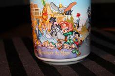 Walt Disney World 25 Years 1996 Remember The Magic Souvenir Coffee Cup Mug.
