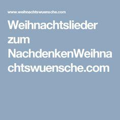 Weihnachtslieder zum NachdenkenWeihnachtswuensche.com