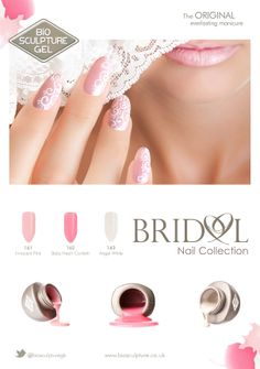 The Bridal Collection!  Bio Sculpture Gel is proud to introduce the latest Bridal Nail Collection.  The collection is timeless,charming and elegant, promising individuality to each  bride's unique dream day.  #bride #bridal #nails #wedding #day #collection #nailart #bridalnails #biosculpturegel