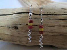 Handmade Harry Potter Inspired Lightning Bolt Earrings
