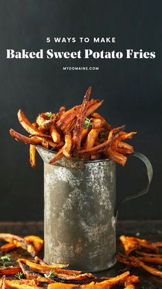 How to make sweet potato fries.
