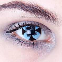 Blue Daisy Cool Contact Lenses