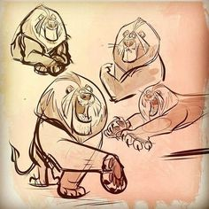 Some sketches of my lion guy from yesterday #lion #artist #artofinstagram #cartoon #design #drawing #characterdesign #art #illustration #sketch #visdev #drawingoftheday #art by artofalan