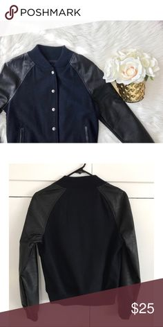 Forever 21 Varsity Jacket NWOT - Forever 21 Varsity Jacket - Small Navy and Black Forever 21 Jackets & Coats